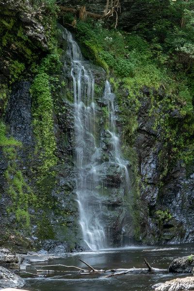 Raymondville Falls, one of the lower falls.
