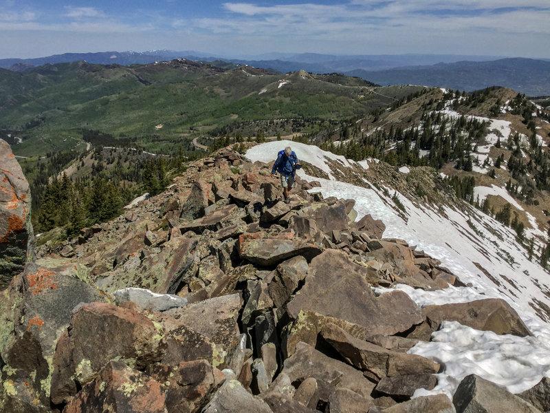 Hiking Clayton Peak.