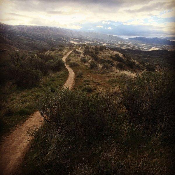 Sunrise over Polecat Trail