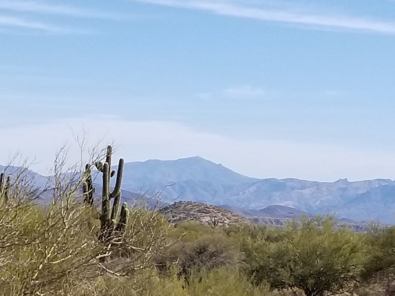 Looking east at the Superstitions.