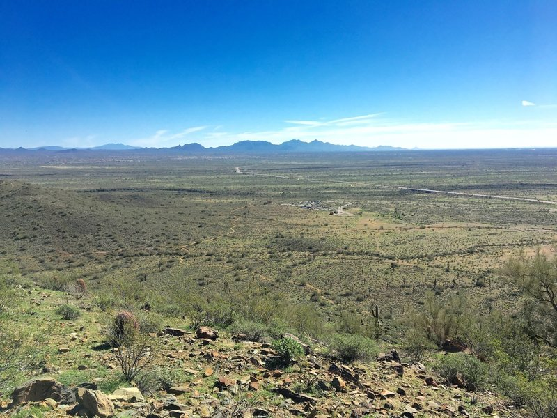 Enjoy gorgeous views of the Sonoran Desert (and the parking lot) from the top of the Ridgeback Trail.
