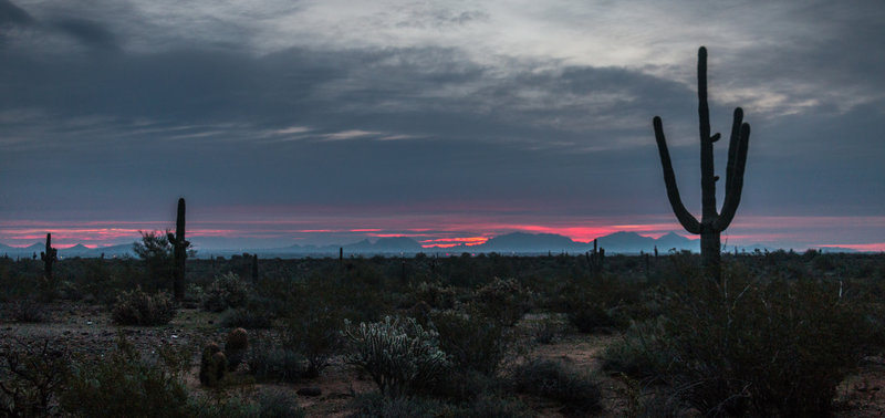 Sunset over Apache Wash.