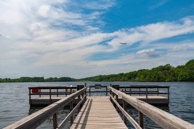 Snelling Lake Fishing Pier - Fort Snelling State Park, Minnesota