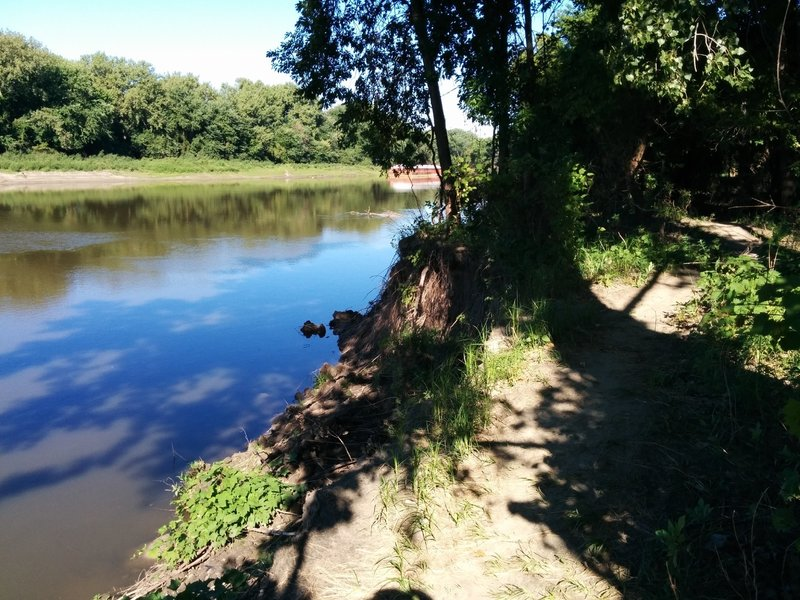Trail has frequent views of the Minnesota River.