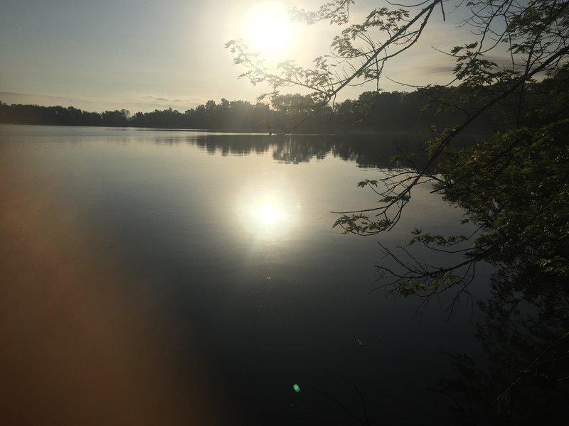 Morning sun over Sakatah Lake.