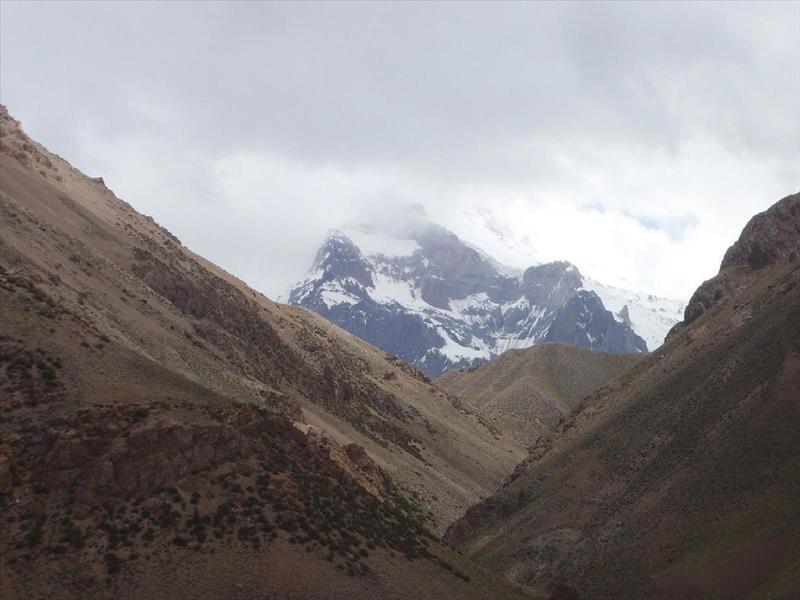 Up the valley toward Aconcagua.