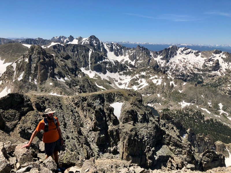 The view south from Paiute's summit is incomparable.