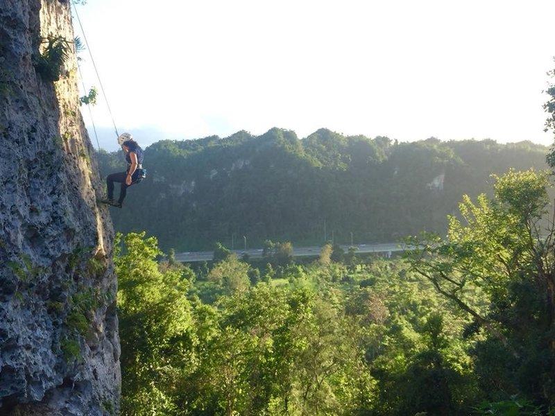 Rock climbing at Roca Norte Outdoor Climbing Gym/
