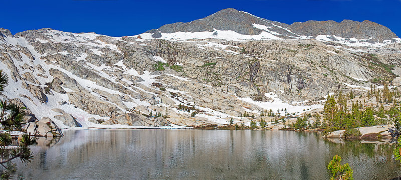 Upper Lady Lake and Madera Peak. More spectacular and better campsites than Lower Lady Lake.