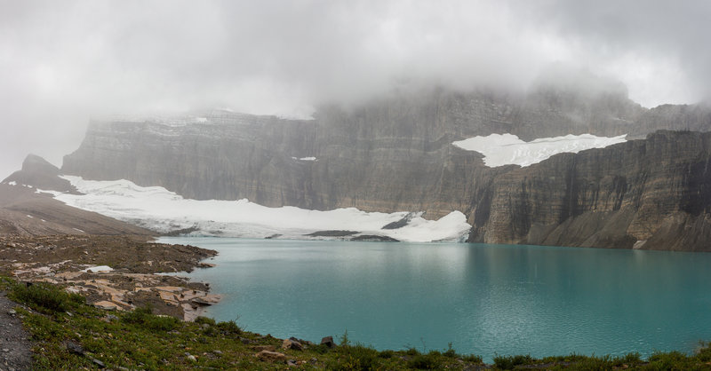 Grinnell Glacier and its intensely turquoise tarn.