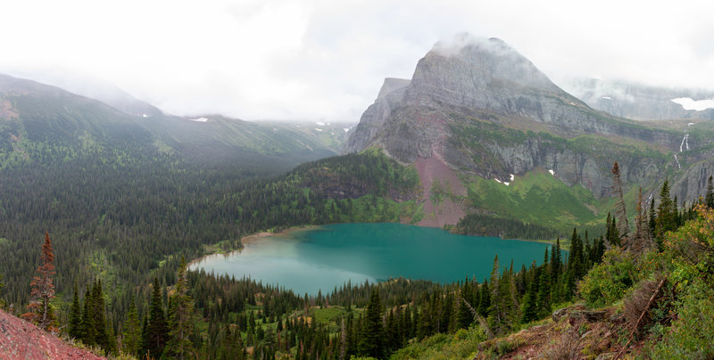 Grinnell Lake with Angel Wing watching over it.