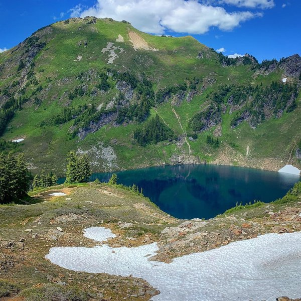 Blue Lake and Johnson Mountain
