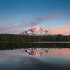 A view of Mount Adams from the shore of Lake Takhlakh.