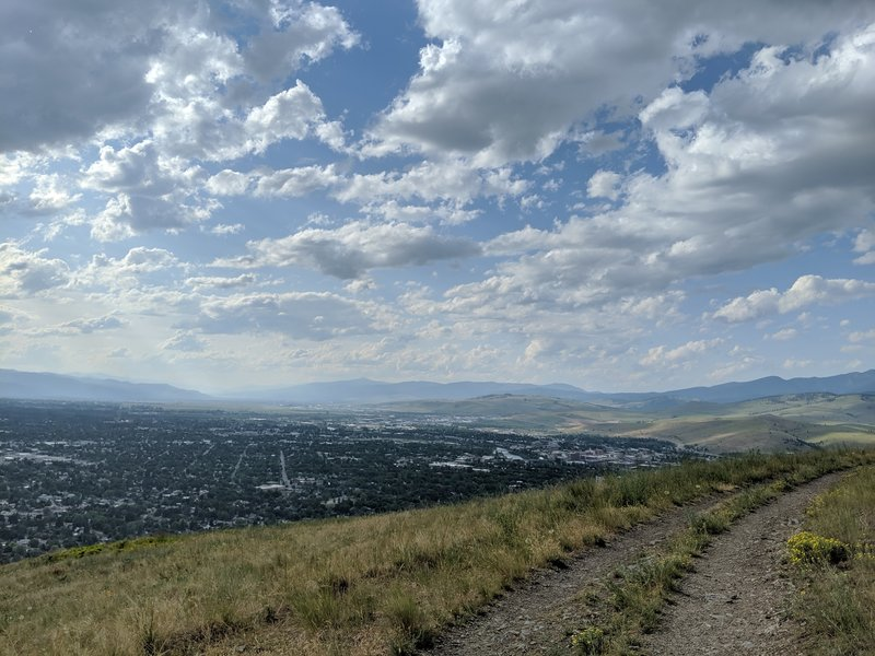 Northwest view of Missoula from fire road.