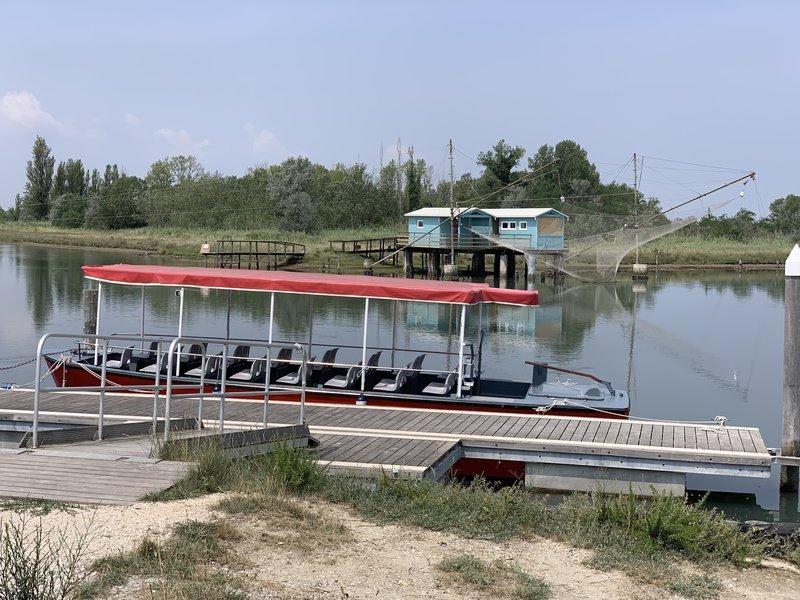 The boat to Isola degli Spinaroni.