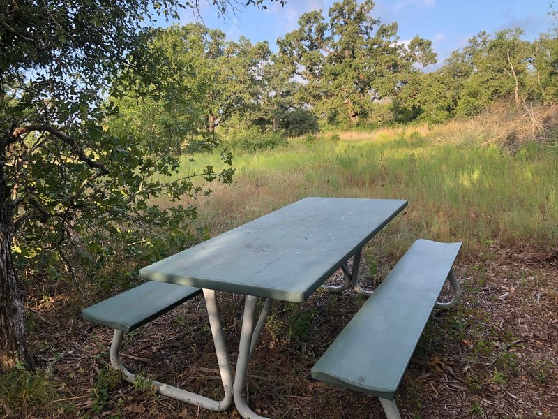 There is a picnic table on the trail if you would like to have a secluded meal.