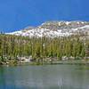 Flat Lake is an easy 1/4th mile walk from the Rainbow Lake Trail