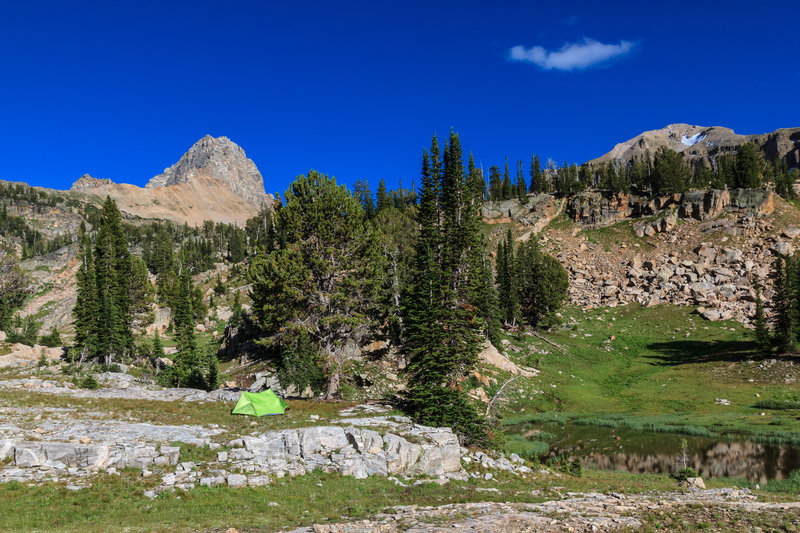 Our camp at Alaska Basin, some 9,500 feet above sea level.