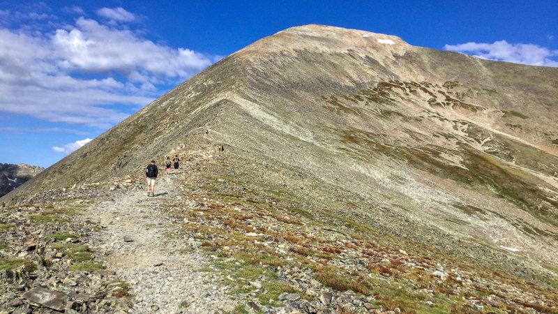 on Quandary Peak Trail