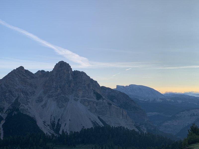 Fanes initial climb -- 6 a.m.