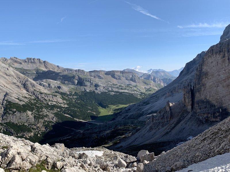 Forcella del Lago climb.