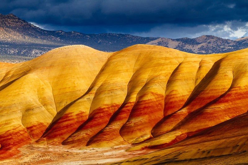 The glorious colours of the Painted Hills in Central Oregon.
