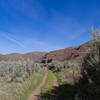About halfway along the Pinnacles Trail.