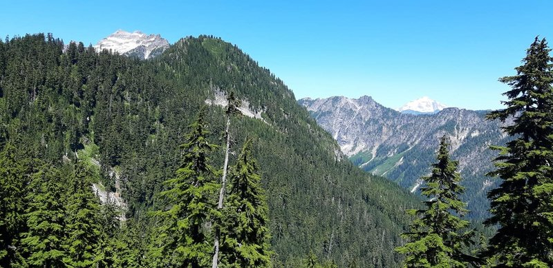 Once you reach the top of the mountain, the views are amazing! This is the view to the north/northeast off the trail.