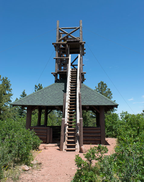 Fire tower at the end of the trail
