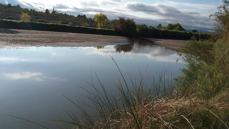 View of the Rio Grande in the winter.