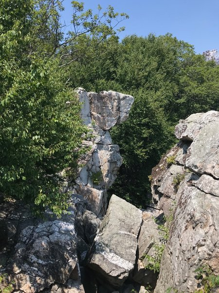Wolf Rock structure.