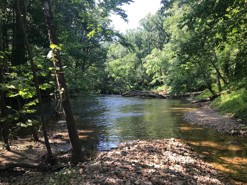 Calmer section of the river along the McKeldin Rapids Trail.