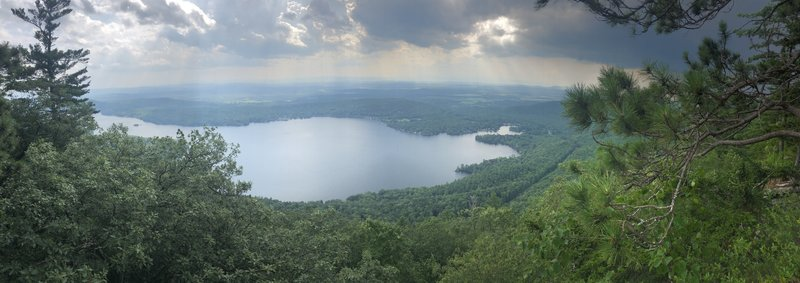View of Lake Dunmore from the overlook
