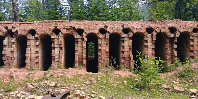 Coke oven ruins at the former town of Lille, Alberta.