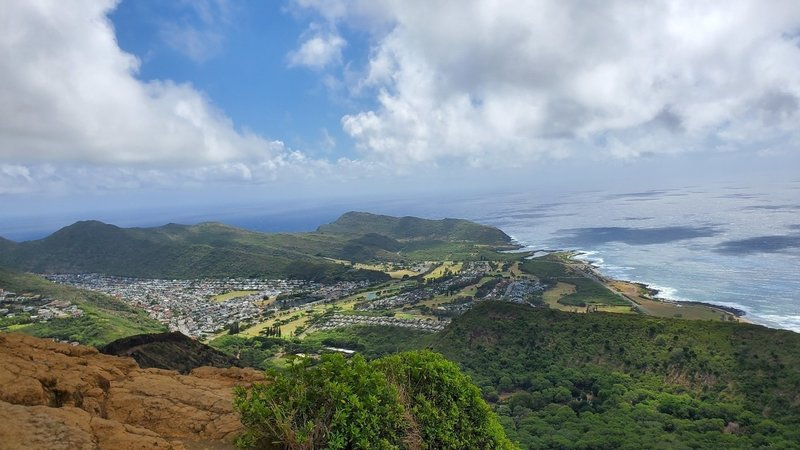 Panorama shot from the top of the pillbox at the very top.