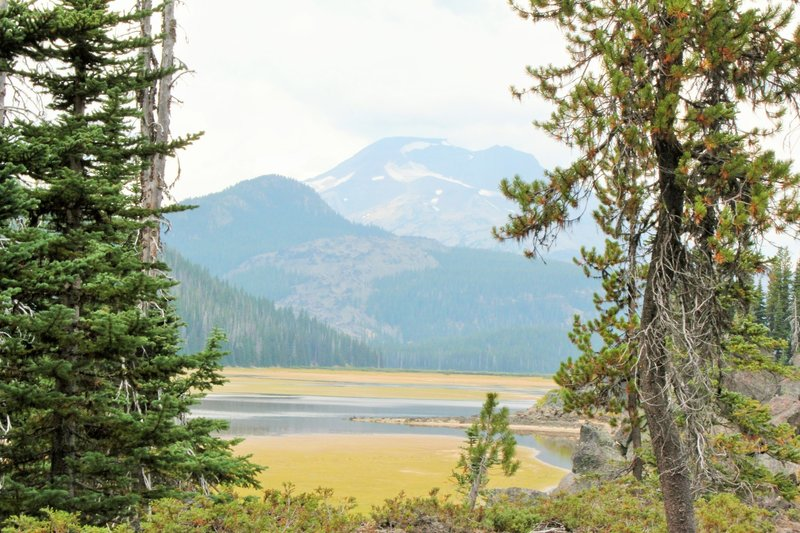 A view of Sparks Lake from the trail.