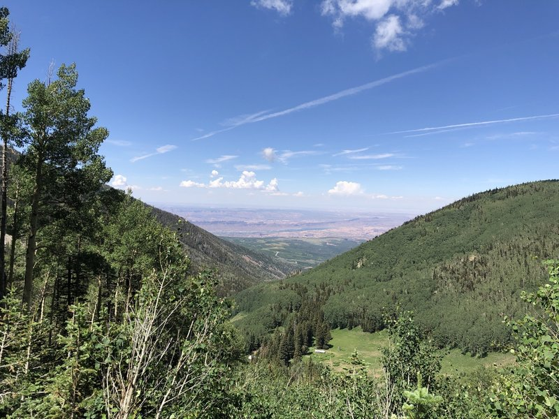 View from Miner's Basin to the Dome Plateau above the Colorado River