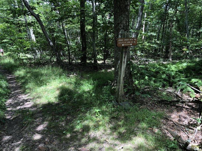 To John's Creek Trail
