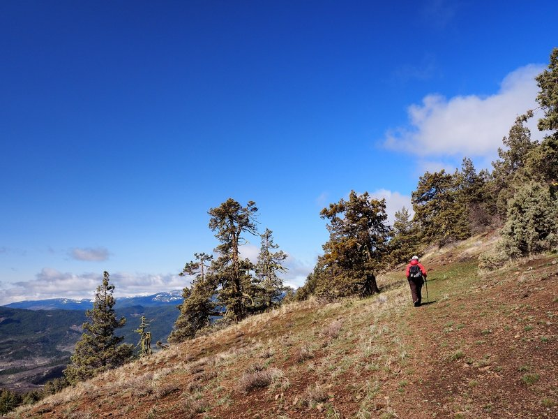 The trail west of Point 5401