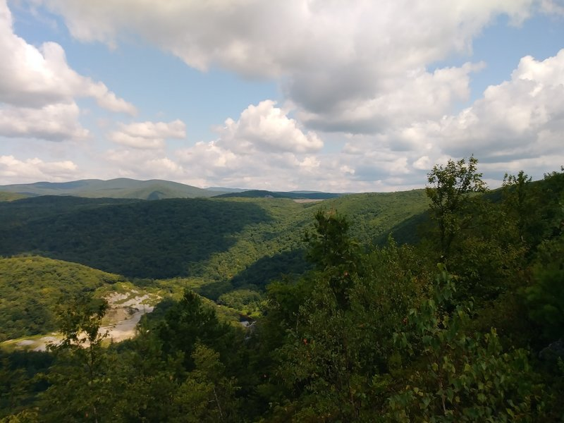 Looking north towards Bear Swamp Reservoir and a bend in the Deerfield River.
