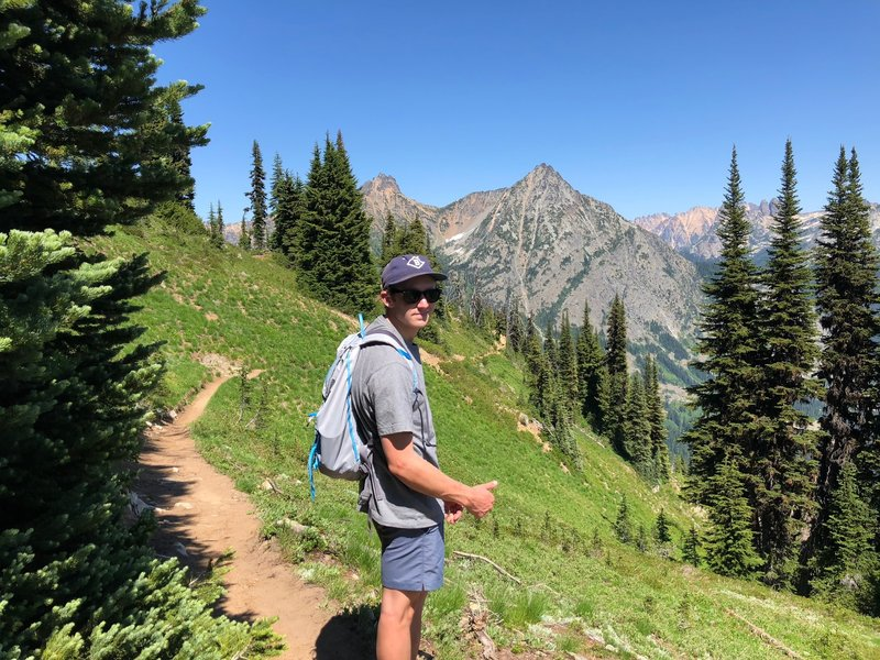 The Ascent to Maple Pass