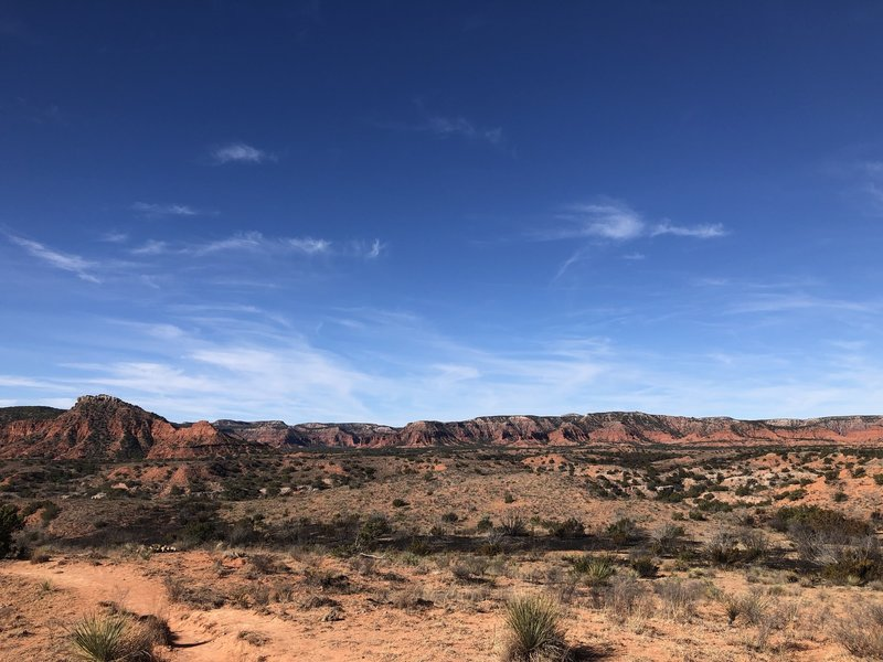 Lower Canyon Trail in Caprock Canyon.