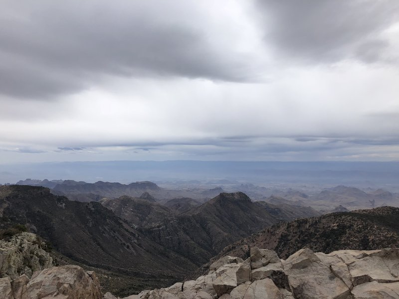 View from scrambling up to the top of Emory Peak.