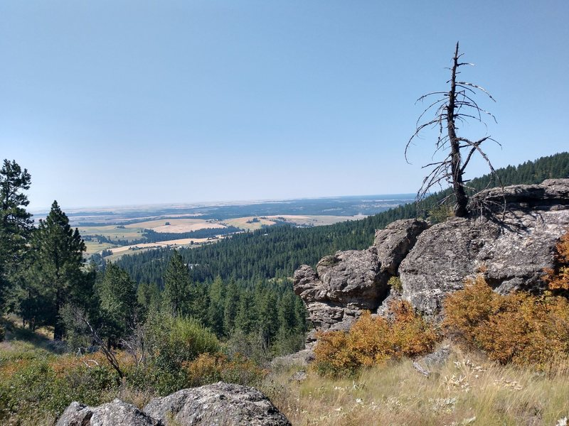 View of the Palouse from Big Rock