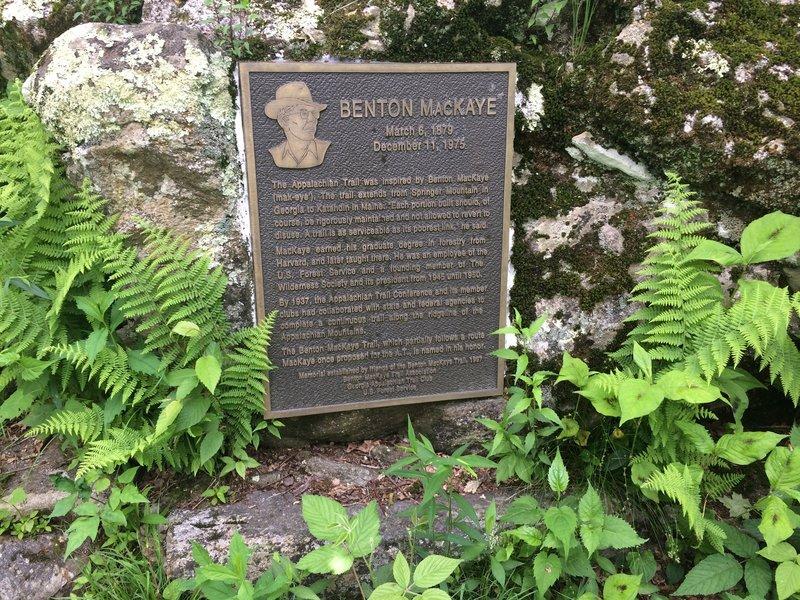 Benton MacKaye Plaque