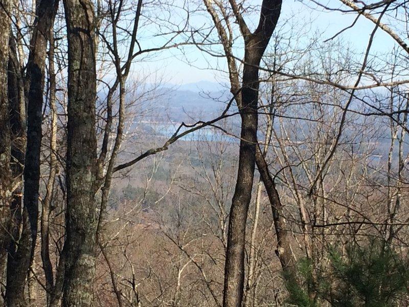 Great view of Lake Blue Ridge from Scroggins Knob at mile 45.6
