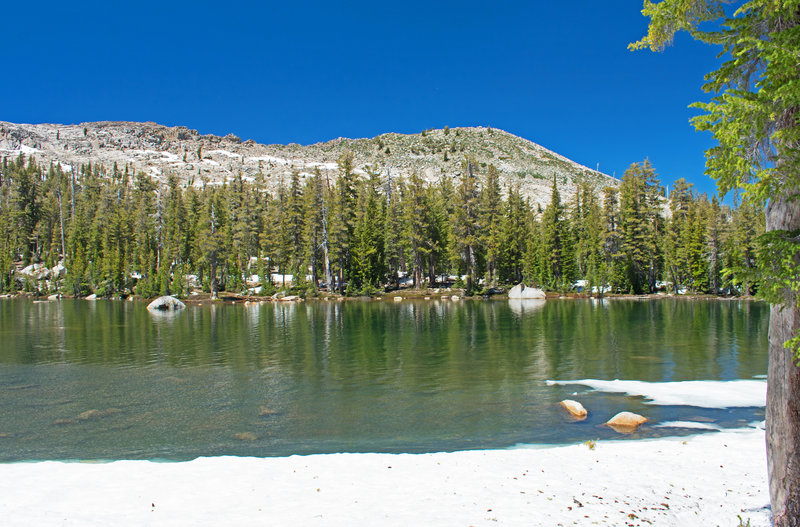 Upper Jackass Lake, looking towards Madera Peak
