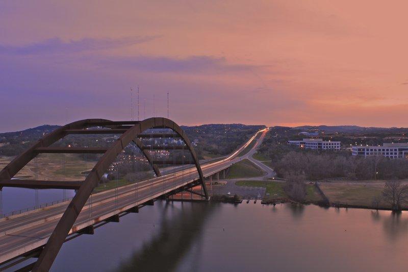 Pennybacker Bridge at Sunset