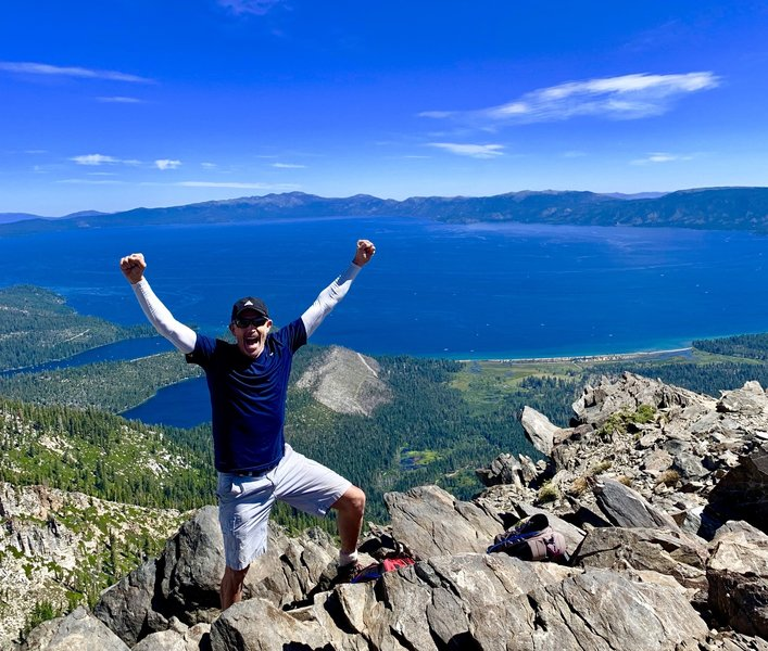 Top of Mount Tallac. One of my all-time favorites. Spectacular view I think it's the best in the Tahoe basin
