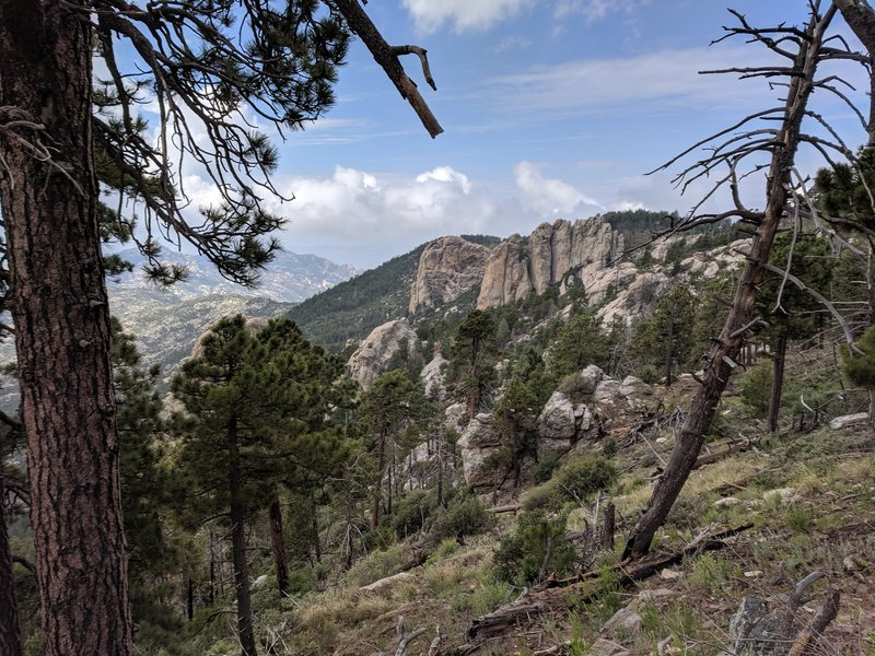 The Ravens and the Fortress, from Lemmon Rock Lookout Trail #12